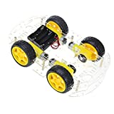 Roboter Bausatz, The perseids Arduino Smart Robot Car Kit, Intelligente Auto Roboter Chassis mit Geschwindigkeit Kodierer 1: 48 für Erwachsene und Kinder(4 WD) (MEHRWEG)