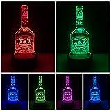 Chinesische berühmte Likörwein-Flasche 7 Farbe, die Steigungs-Nachtlicht Bedside Sleeping Drunkard Birthday Xmas Gifts verdunkelt