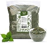 NaturaForte Brennnesselblätter geschnitten 1kg - Brennnesseltee, Blätter schonend getrocknet, Teeblätter, Brennnessel im Beutel für Tee aus kontrolliertem Anbau, Arzneimittel-Qualität