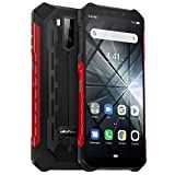 Ulefone Armor X3 (2019) Outdoor Smartphone ohne Vertrag, Android 9 Pie 32GB +2GB, 5000mAh Akku, Dual SIM Handy IP68 Wasserdicht Stoßfest Staubdicht, 5,5 Zoll Display Kompass/Face ID/WiFi/GPS - Rot