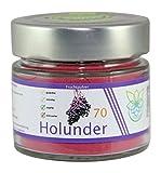 VITARAGNA Holunder Fruchtpulver 70 vegan, Qualitätsprodukt mit reinem Holunder-Fruchtextrakt, Holunderbeer-Extrakt, ohne Zusätze