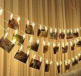 Foto-Klipp-Licht-Schnur Batteriebetriebenes LED-Warmes Weißes Licht Für Schlafzimmer-Hochzeitsfest-Weihnachtsvorschlag Innenhauptdekor-Lichter, Die Foto-Karte Memos Und Grafik Hängen,Warmwhite,2M