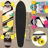 Physionics Skateboard   34' (86cm), Kugellager: ABEC-9, Designwahl   Longboard, Retro-Board, Mini Cruiser, Cruiser Board, Komplettboard - Sunshine Surf