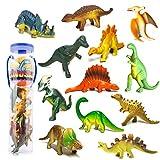 Mini Dinosaurier Figuren Set Pädagogisches Realistische Dinos Spielzeug Kunststoff Modell für Kinder (12ST)