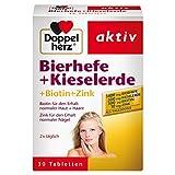 Doppelherz Bierhefe + Kieselerde / Biotin und Zink für den Erhalt normaler Haut / 1 x 30 Tabletten