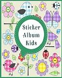 Sticker Album Kids: Blank Sticker Book, 8 x 10, 64 Pages