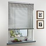 Klöckner Aluminium-Jalousie Innenjalousie / 100 x 175 cm (Breite x Höhe) Silber/Montage an Wand oder Decke