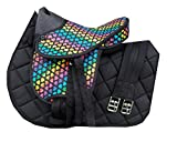 HKM Shetty Sattelset Colourful (Heart Black)