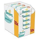 Pampers Sensitive Feuchttücher, 1008 Tücher, 18er Pack (18 x 56 Stück)