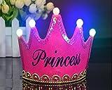 OFT Prinzessin / Prinz Königskrone Krone Diadem Tiara Geburtstag Kopfschmuck mit Led Lampe für Kinder (rose Princess)
