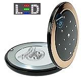 Taschen-Spiegel Kosmetex, LED beleuchtet, mit 5-fach Vergrößerung und Magnetverschluss, Bronze
