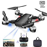 Mini Drohne, Faltbare Drohne mit Kamera, 1080P HD 500MP WiFi FPV Live Übertragung ,RC Quadrocopter,App-Steuerung, One Key Start/Landung,Headless Modus,Gestensteuerung, Quick Shot, Live Video(schwarz)
