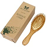 Neverland Beauty Bambus Holz Anti statische Haarbürste Paddle Kissen Haarbürste Massage Haar Bürste