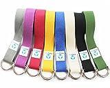 Yogagurt »Madira« / Yoga-Belt Gurt 100% Baumwolle mit stabilem Metall-Ring-Verschluss / 250 x 3,8cm / violett