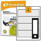 Universal Ordnerrücken Etiketten breit 190 x 61 mm 400 Rückenschilder selbstklebend weiß bedruckbar - 100 DIN A4 Bogen 1x4