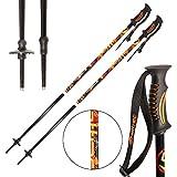 ATTRAC Skistöcke inkl. Schneeteller I Skistock Aluminium in verschiedenen Längen I Aluminiumschaft 18 mm (125 cm)