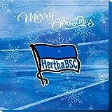 Premium Schoko-Adventskalender – Der lustige Weihnachts-Countdown aus Fairtrade-Kakao + Mannschaftsposter + Fanshop-Gutschein zu Heilig Abend (200 g) (Hertha BSC)