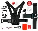 DURAGADGET Pack Komplettset Zubehör für Nikon keymission 170& keymission 80, Sony HDR as20V Onboard Kamera/Camcorder–Ideal in Ski, Surf, Paddle Board, MTB, Kajak etc