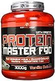 BWG Protein Master F90, Eiweißshake mit BCAA`S und Glutamin, Muskelaufbauphase, Deluxe Proteinshake Vanilla, Dose mit Dosierlöffel, Muscle Line, 1er Pack (1 x 3000g)