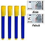Sky-Welle 4x Geldprüfstift Geldschein Geldprüfer Geldscheinprüfstift Tester