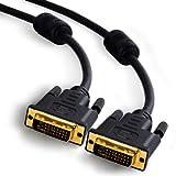 CSL - 2m DVI zu DVI Kabel | Dual Link 24+1 | vergoldete Kontakte | HDTV Auflösungen bis 2560x1600 | 2x Ferritkern | verzinnte OFC Kupferleiter | x.v.Color