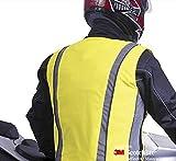 Salzmann hohe Sichtbarkeit unisex reflektierende Weste für Motorrad, Radfahren und Laufen, High Viz 3M Scotchlite Fahrradweste