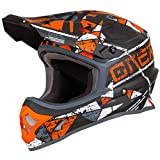 O'Neal 3Series Zen Motocross Motorrad MX Bike Helm FMX Enduro Moto Cross Offroad Quad Trail, 0623-Z-Adult, Farbe Orange, Größe XL