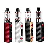 80W E Zigarette Starter Set, 1600mAh Vape Pen Kit, Verdampferkopf Coil 0,35ohm 2,5ml Ezigarette Verdampfer Kopf Tank, Regelbare Watt LED Bildschirm 0,0mg Nikotin (Silver)
