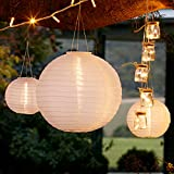 3er Set Solar Lampions Solar Laterne weiß Lights4fun