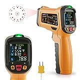 Infrarot Thermometer AIDBUCKS AD6530D ir Laser Digital Thermometer kontaktfreies mit Farbe lcd 12-Punkte-Laserkreis für Küche Lebensmittel Wein Innen Außen Industrie usw -50℃ bis 800℃