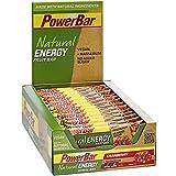 Energieriegel Natural Energy Fruit Bar – Fruchtriegel + Magnesium bei erhöhtem Energiebedarf – Vegan – 24 x 40g Cranberry