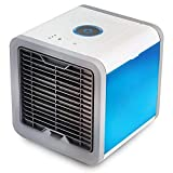 HSQA Luftkühler Portable Mini Personal Air Conditioner Einstellbare 7 Farbe Licht Kein Wasserleck 3 Lüftergeschwindigkeit USB Verdunstungskühler