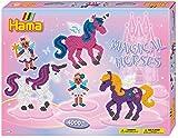 Hama 3138 - Geschenkpackung Zauberhafte Pferde, ca. 4000 Bügelperlen, 2 Stiftplatten und Zubehör