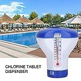 haodene Dosierschwimmer Pool Thermometer Schwimmender 5 Zoll Pool-Chlorspender Schwimmbad Chlor Desinfektion Automatischer Spender Für Innen- Und Außenpools
