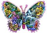 Schmetterling am Wasserfall (Konturenpuzzle)