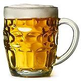 Bierkrug - Der tolle britische Noppenkrug 0.5 Liter - 4er-Packung   bar@drinkstuff Noppenkrüge, Pint-Krüge, Pint-Kannen, Noppenkrüge, Glaskannen   Traditionelle Glas-Pintkannen   Genoppte Bierkannen   Oktoberfest, Becher Bierglas / Bierkrug