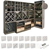 Weinregal / Flaschenregal System CAVEPRO, Sockel Wenge - H 8 x B 70 x T 31 cm