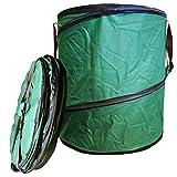 1x Gartenabfalltonne Pop Up faltbarer Gartensack 160 Liter Laubsack aus stabilen Oxford Nylon bis 50 Kilo