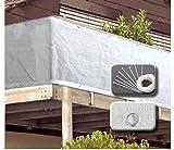 VARILANDO einfacher Garten-Sichtschutz aus weißem Kunststoff in zwei Größen Balkon-Umspannung Sichtschutz Sichtschutz-Netz Balkon-Sichtschutz (300 cm)