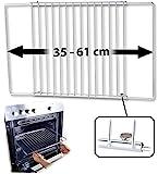 Rosenstein & Söhne Backblech: Universal-Backofenrost, ausziehbar von 35 - 61 cm, 32 cm tief (Gitterrost)