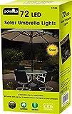 72LED Solar Sonnenschirm Regenschirm Lichterkette–Dual Funktion