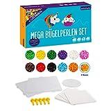 Smowo Mega Bügelperlen Set mit 10.000 Perlen - 15 Farben - inkl. Steckplatten und Zubehör - XXL Steckperlen Box