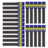 DECARETA Bleistiftminen, Hi-Polymer Feinminen aus Harz und Graphit, Druckbleistiftminen für Feinminenstift Automatische Bleistifte, 12 Minen X 30 Pack , HB, 0.7 mm