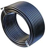 EXCOLO PE Rohr 25 mm x 25 Meter PE-HD Rohr Wasserrohr Wasser Leitung Kunststoffrohr Bewässerung Wasser Rohre schwarz