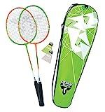 Talbot Torro Badminton-Set 2-Attacker, 2 Schläger, 2 Federbälle, in wertiger Tasche, 449502