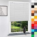 Sun World Aluminium Jalousie nach Maß, hochqualitative Wertarbeit, 28 Farben verfügbar, Maßanfertigung, für Fenster und Türen, Alu Jalousien, Decken und Wandmontage (Weiß, Höhe: 220cm x Breite: 75cm)