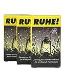 Crottendorfer Räucherkerzen 'RUHE!' - mit leichtem zitronigen Duft um lästige Gäste zu vermeiden - 3er Pack in der Größe XL - 3 x 4 Stück - Made in Germany