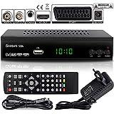 hd-line Strom 506 DVBT-2 Receiver Digital DVBT/T2 Receiver - Kompatibel Home Cinema - (HDMI 2.0, SCART, USB 2.0, Full HD 1080P) HEVC/H.265 - H.264 / MPEG2 - MPEG4 Automatische İnstallation Schwarz