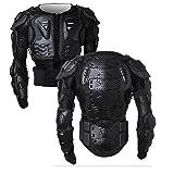 Motorrad Vollkörper Rüstungsschutz Pro Street Motocross ATV Schutzhemd Jacke mit Rückenschutz (Schwarz XXL)