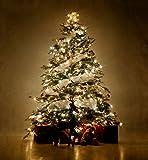 ANKOUJA LED Lichterkette 200er für Weihnachtsbaum Weihnachten Warmweiß Innen Zimmer 8 Funktiontyp-Memory-Verlaengerbar Weihnachtsbeleuchtung
